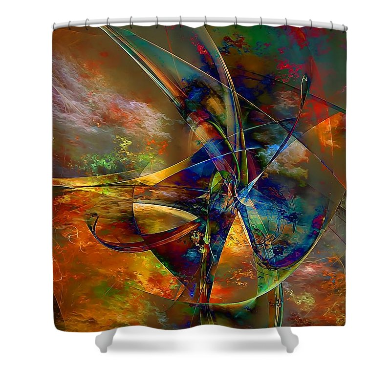 Graphics Shower Curtain featuring the digital art Abs 0496 by Marek Lutek