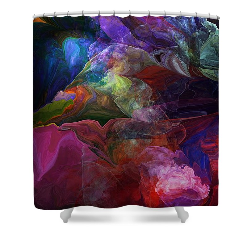 Fine Art Shower Curtain featuring the photograph Abstract 072812 by David Lane