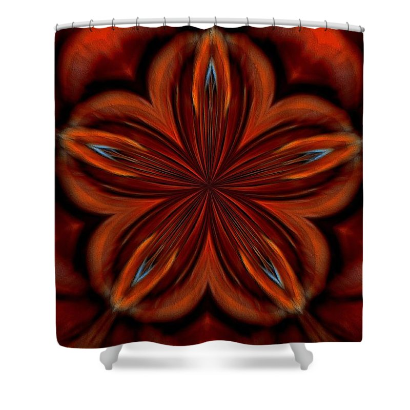 Abstract Shower Curtain featuring the digital art Abstract 16 by Maria Urso