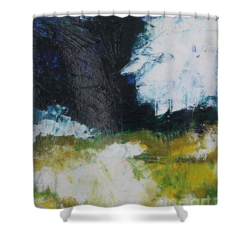 Abstract Shower Curtain featuring the painting Abstract 2 by Mantra Y