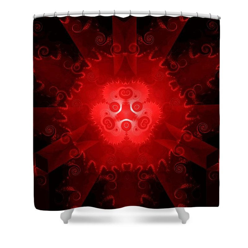 Abstract Shower Curtain featuring the digital art Abstract 20 - Rb by Maria Urso