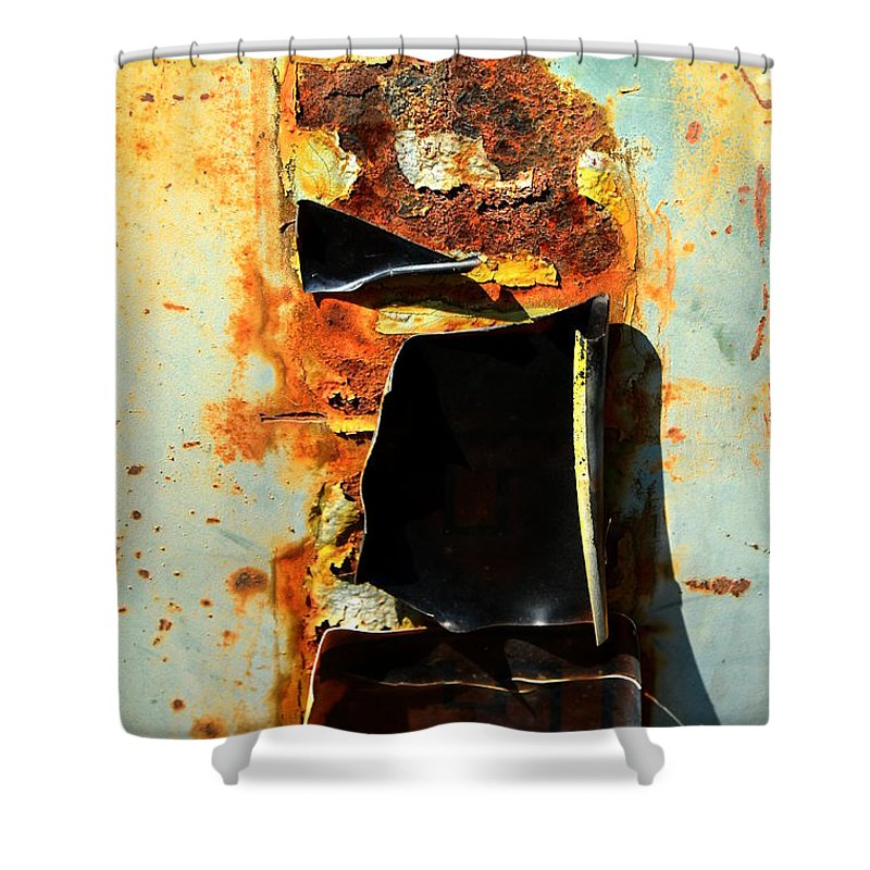 Junk Shower Curtain featuring the photograph Abstract 36 by Newel Hunter