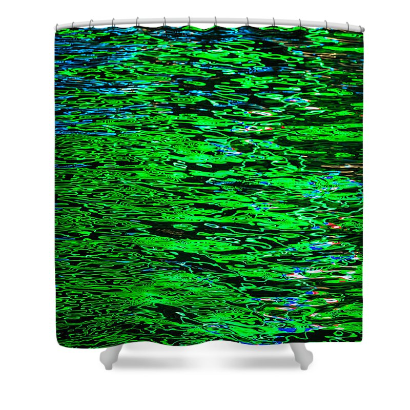 Abstract Reflections In Water Shower Curtain featuring the photograph Abstract 405 by Mike Penney