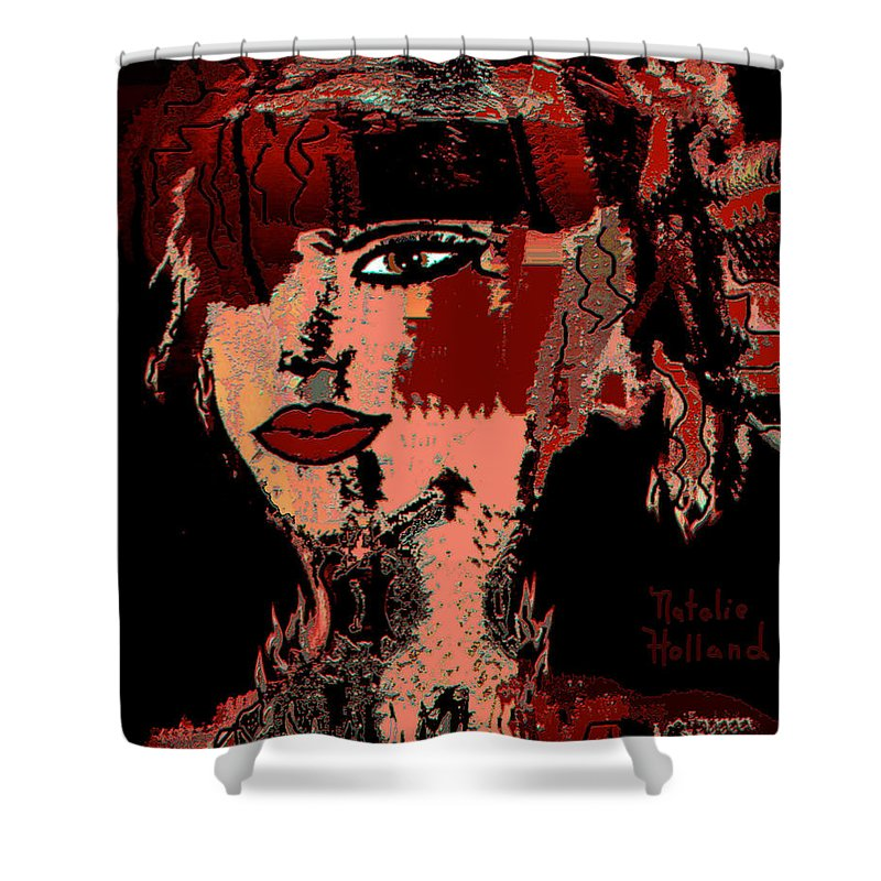 Abstract Beauty Shower Curtain featuring the mixed media Abstract Beauty by Natalie Holland