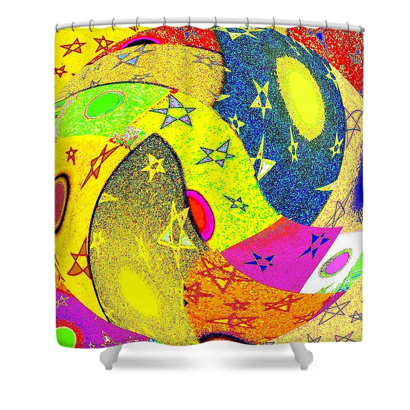 Abstract Fusion Shower Curtain featuring the digital art Abstract Fusion 110 by Will Borden