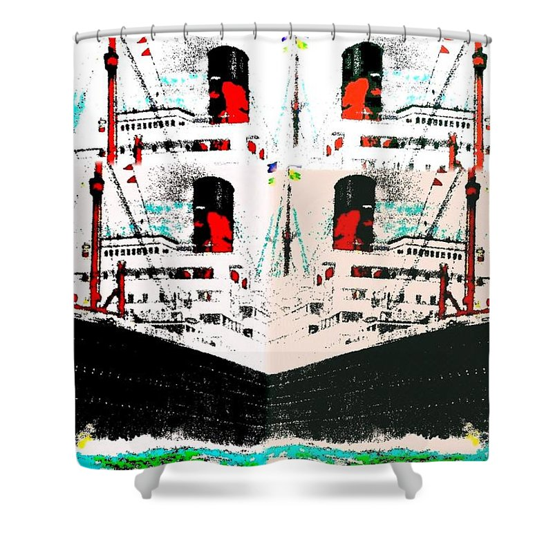 Abstract Fusion Shower Curtain featuring the digital art Abstract Fusion 33 by Will Borden
