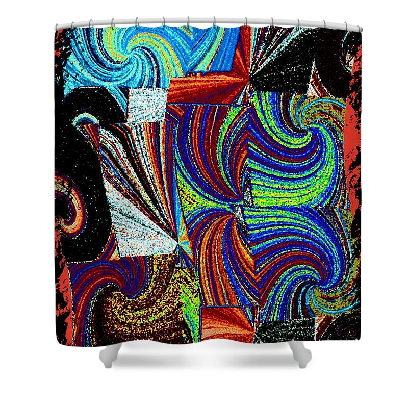 Abstract Fusion Shower Curtain featuring the digital art Abstract Fusion 37 by Will Borden