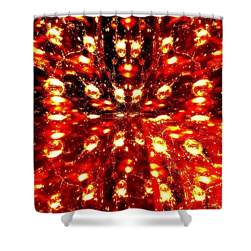 Abstract Fusion Shower Curtain featuring the digital art Abstract Fusion 76 by Will Borden
