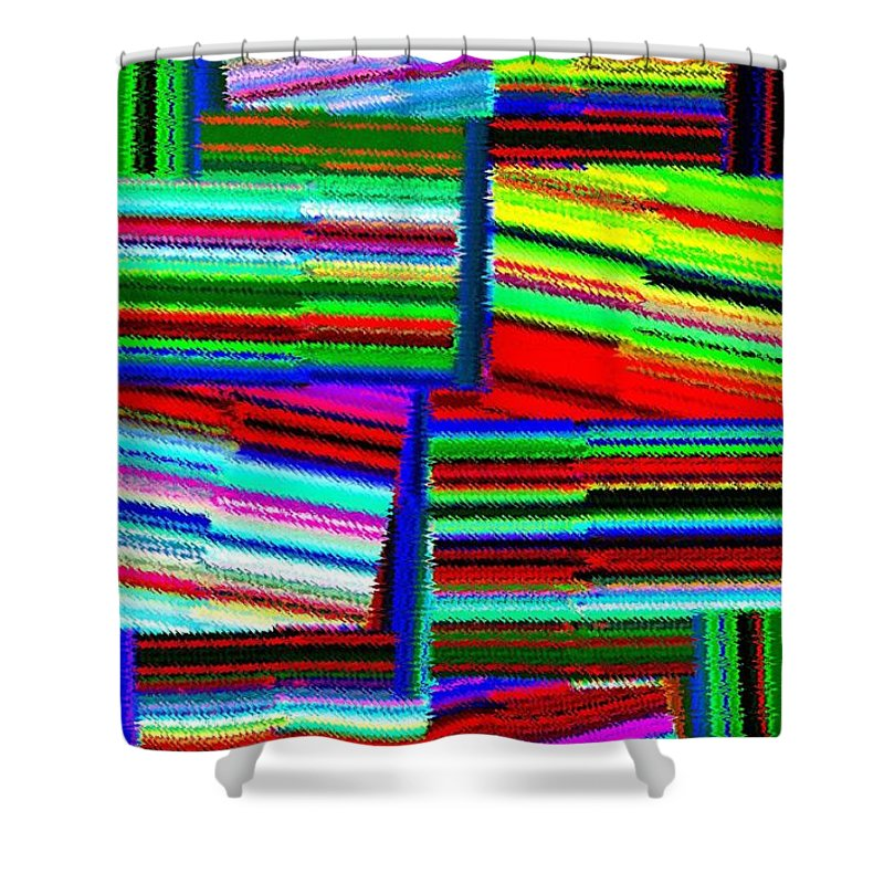 Abstract Fusion Shower Curtain featuring the digital art Abstract Fusion 77 by Will Borden