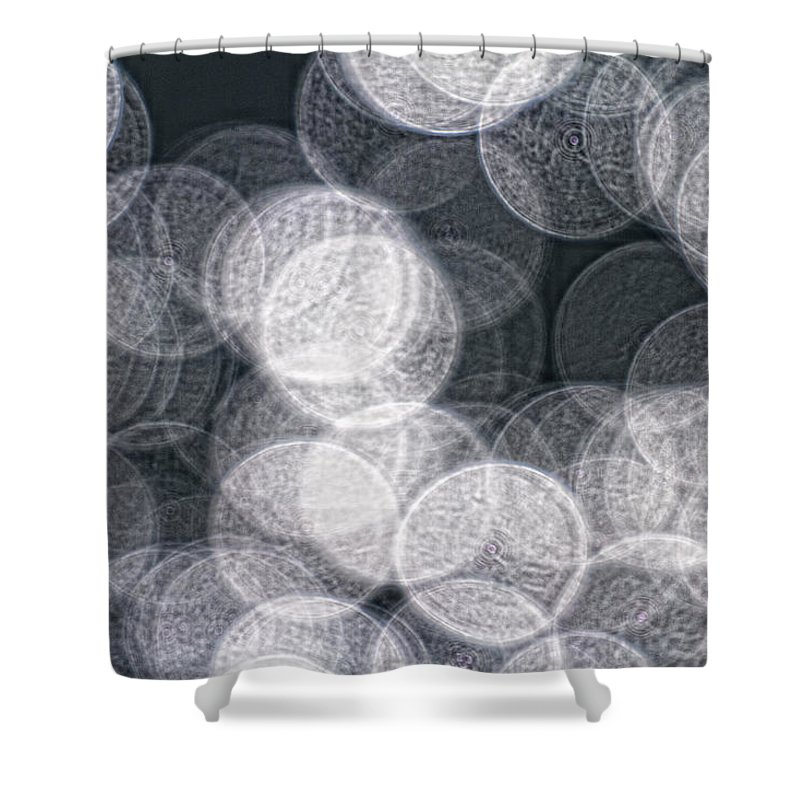 Light Shower Curtain featuring the photograph Abstract Photo Of Light Reflecting by Robert Postma