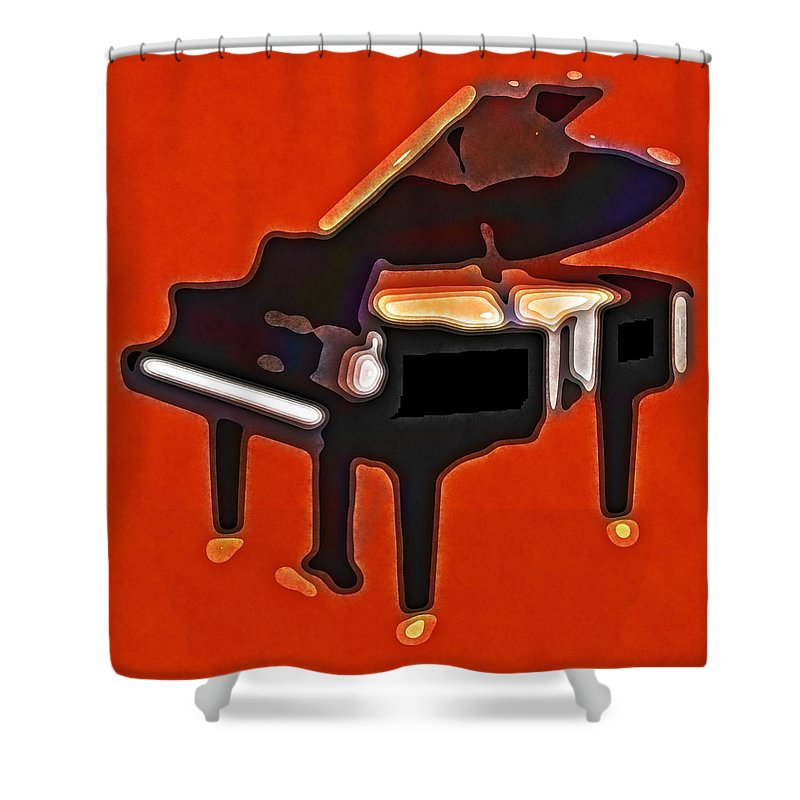 Piano Shower Curtain featuring the photograph Abstract Piano by David G Paul