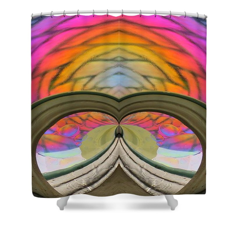 Abstract Shower Curtain featuring the photograph Abstract Rainbow by Rrrose Pix