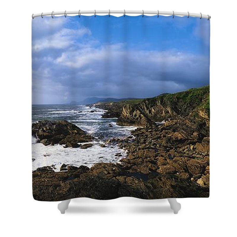 Architectural Detail Shower Curtain featuring the photograph Achill Island, Atlantic Drive, Co Mayo by The Irish Image Collection