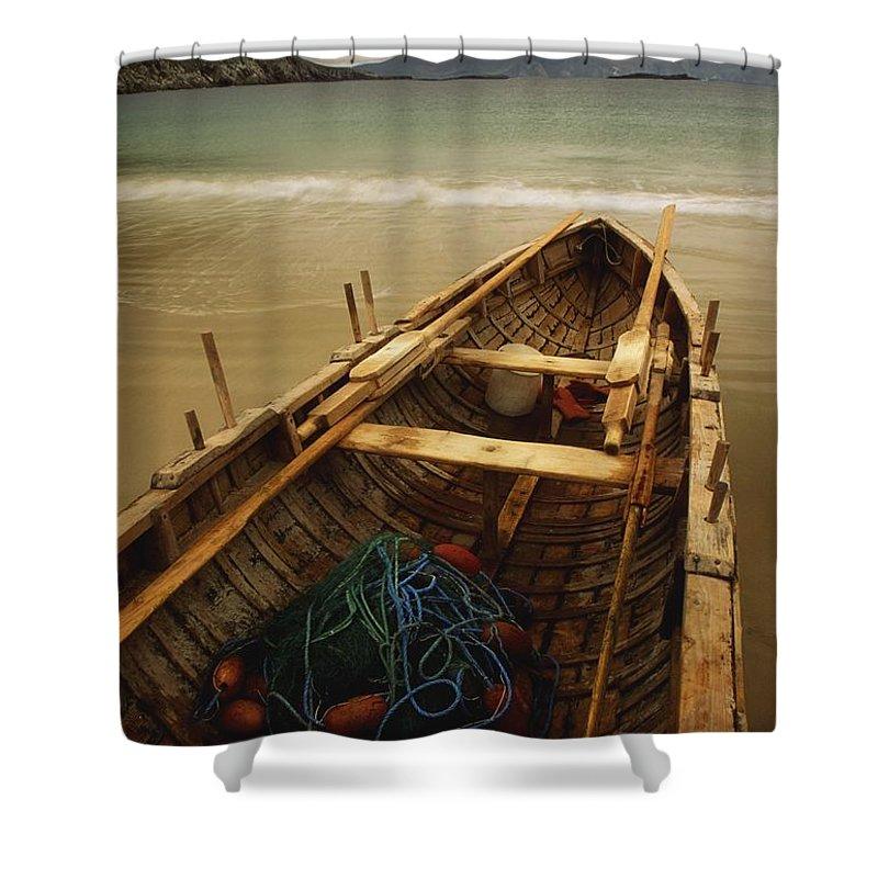 Bay Shower Curtain featuring the photograph Achill Island, County Mayo, Ireland by Richard Cummins