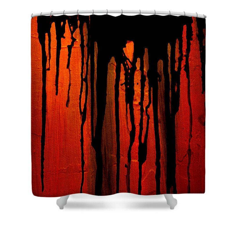 Acid Rain Shower Curtain featuring the painting Acid Rain by Bruce Stanfield