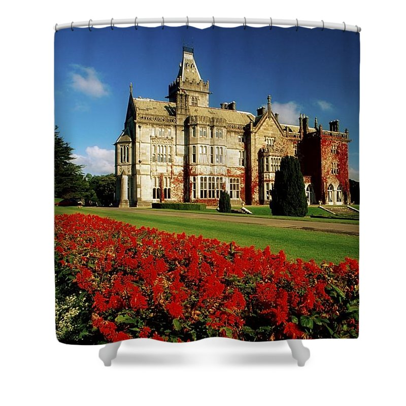 Architectural Exterior Shower Curtain featuring the photograph Adare Manor, County Limerick, Ireland by Richard Cummins