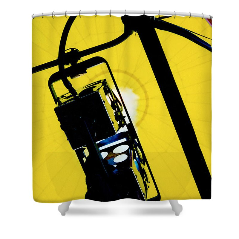 Balloon Shower Curtain featuring the photograph Adding Fuel To The Fire by Tom Luca