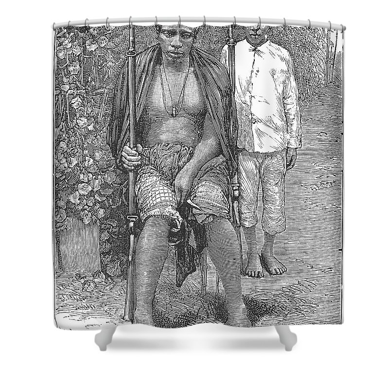 1889 Shower Curtain featuring the photograph Africa: Makololo Chief by Granger