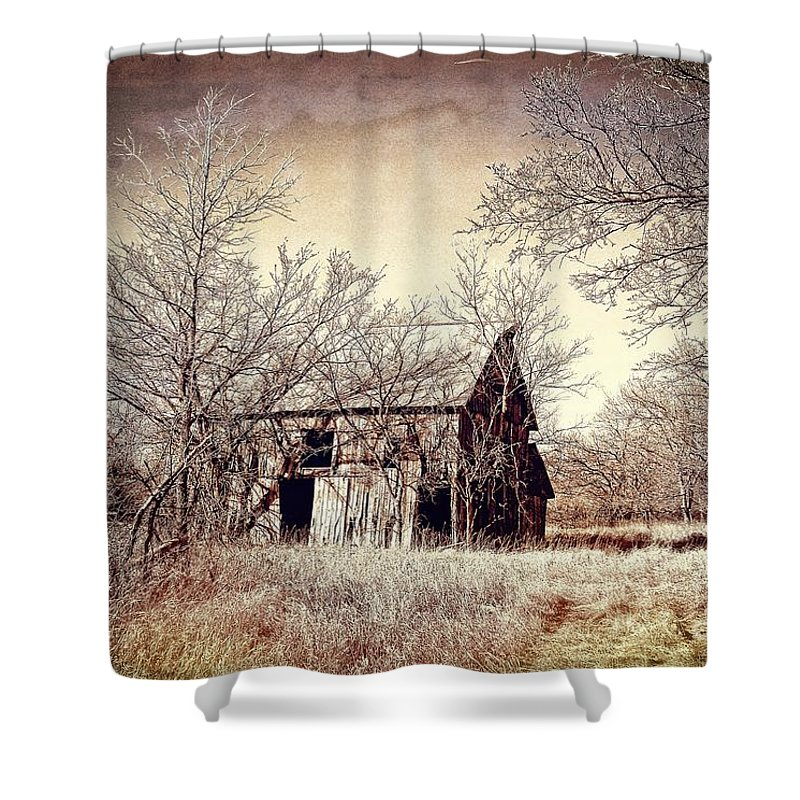 Barn Shower Curtain featuring the photograph After The Harvest by Sharlotte Hughes