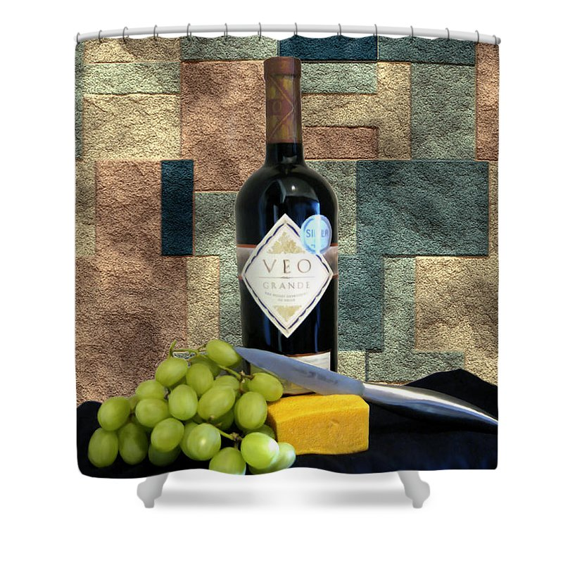 Wine Shower Curtain featuring the photograph Afternoon Delights by Kurt Van Wagner