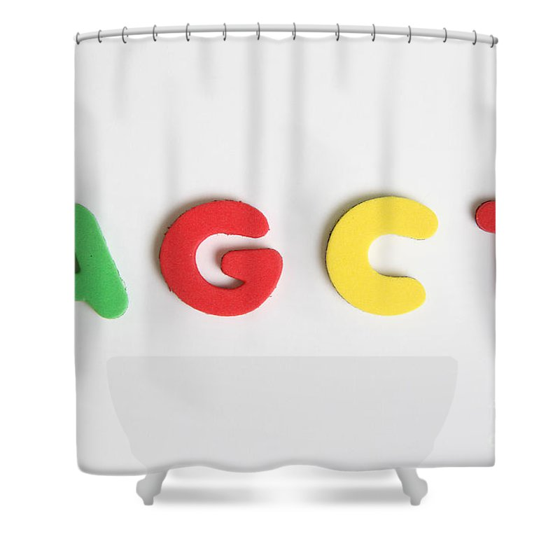 Act Shower Curtain Featuring The Photograph Agct Make Up Of Dna By Photo Researchers