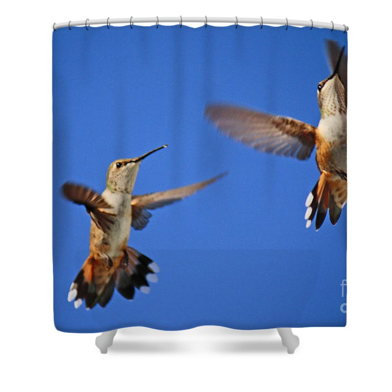 Roena King Shower Curtain featuring the photograph Air Dance by Roena King