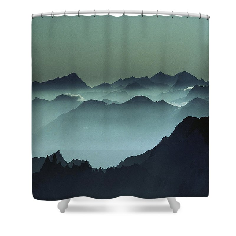 Europe Shower Curtain featuring the photograph Air Pollution Settles Over The French by Paul Chesley