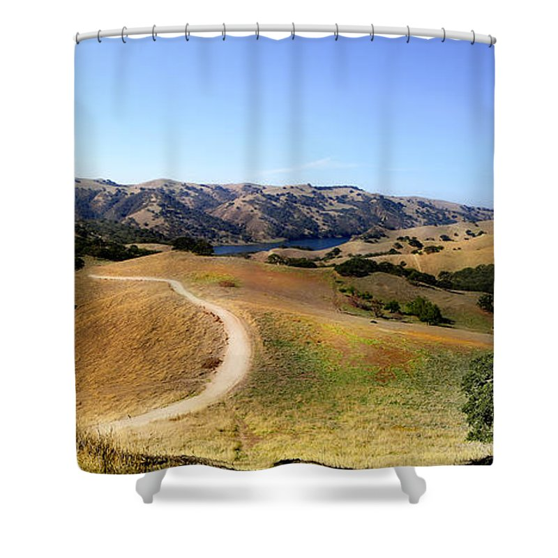 Del Valle Shower Curtain featuring the photograph Airplane Hill by Karen W Meyer