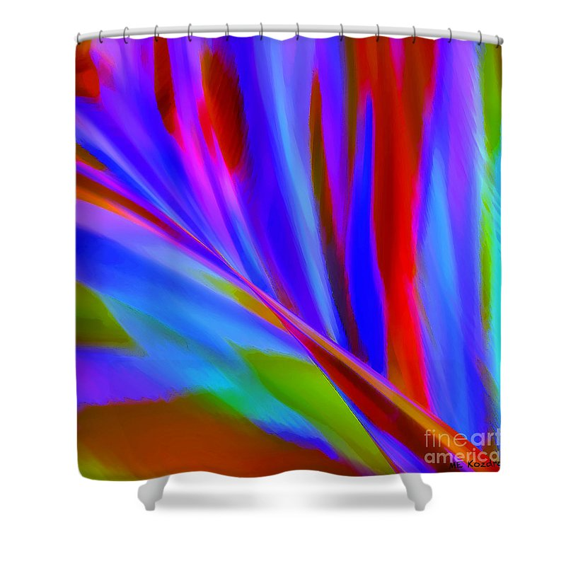 Abstract Shower Curtain featuring the digital art Akimbo by ME Kozdron