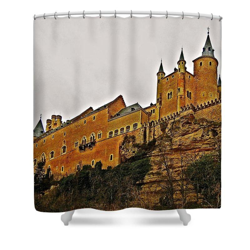 Europe Shower Curtain featuring the photograph Alcazar De Segovia - Spain by Juergen Weiss