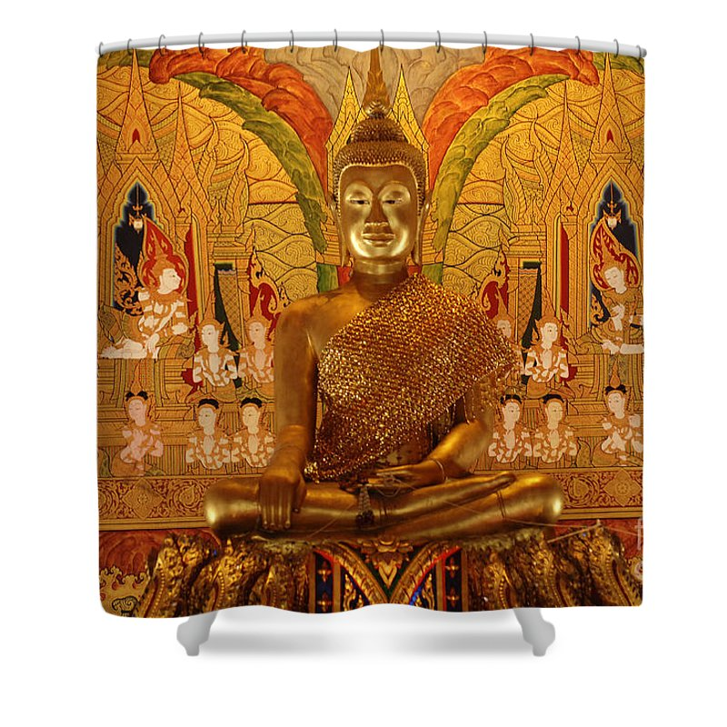 Gold Shower Curtain featuring the photograph All That Gold by Bob Christopher