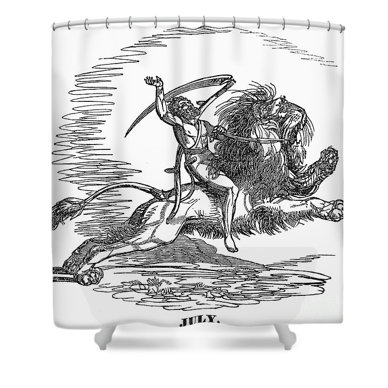 1837 Shower Curtain featuring the photograph Allegory: July, 1837 by Granger