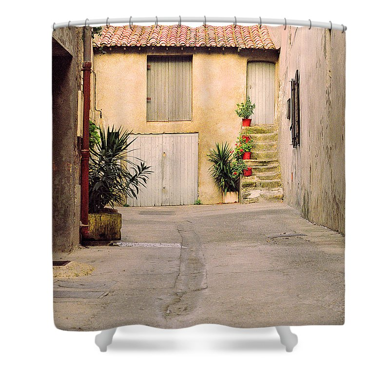 Arles Shower Curtain featuring the photograph Alley In Arles France by Greg Matchick