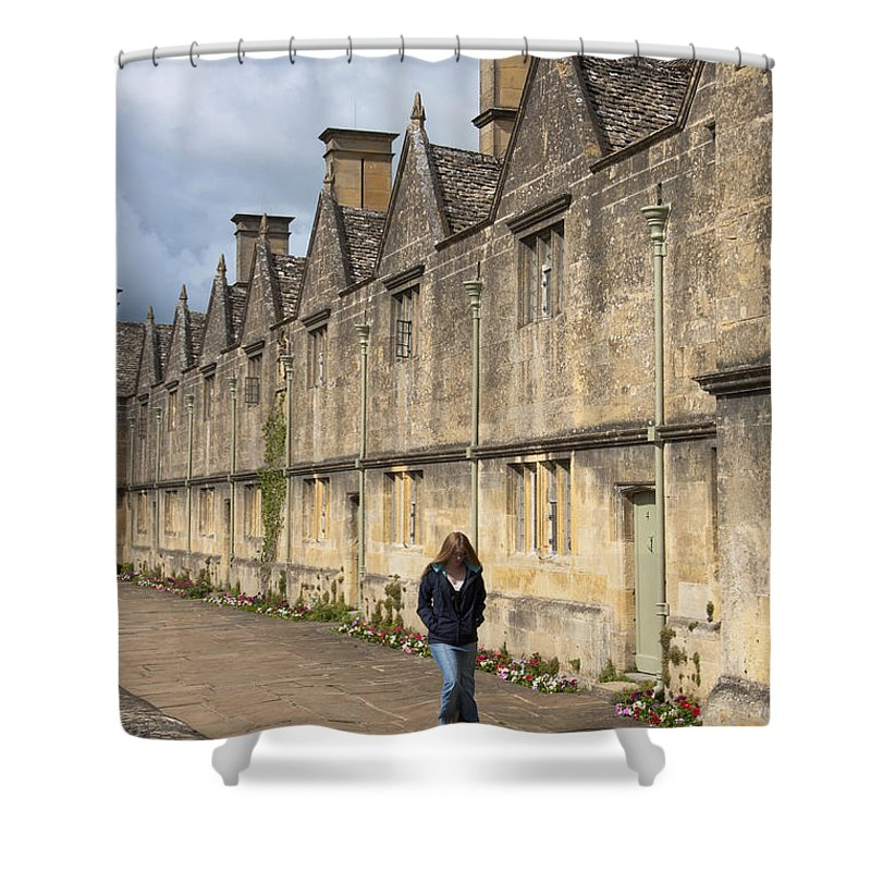 Chipping Campden Shower Curtain featuring the photograph Almshouses by Andrew Michael