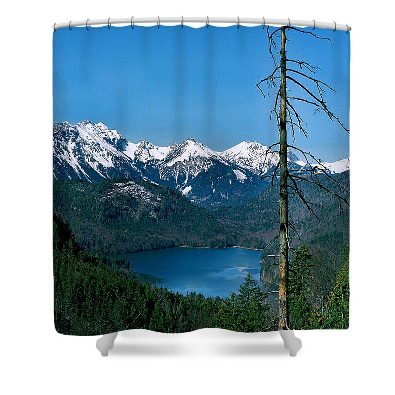 Alp See Lake Shower Curtain featuring the photograph Alp See Lake In Bavaria Germany by Greg Matchick