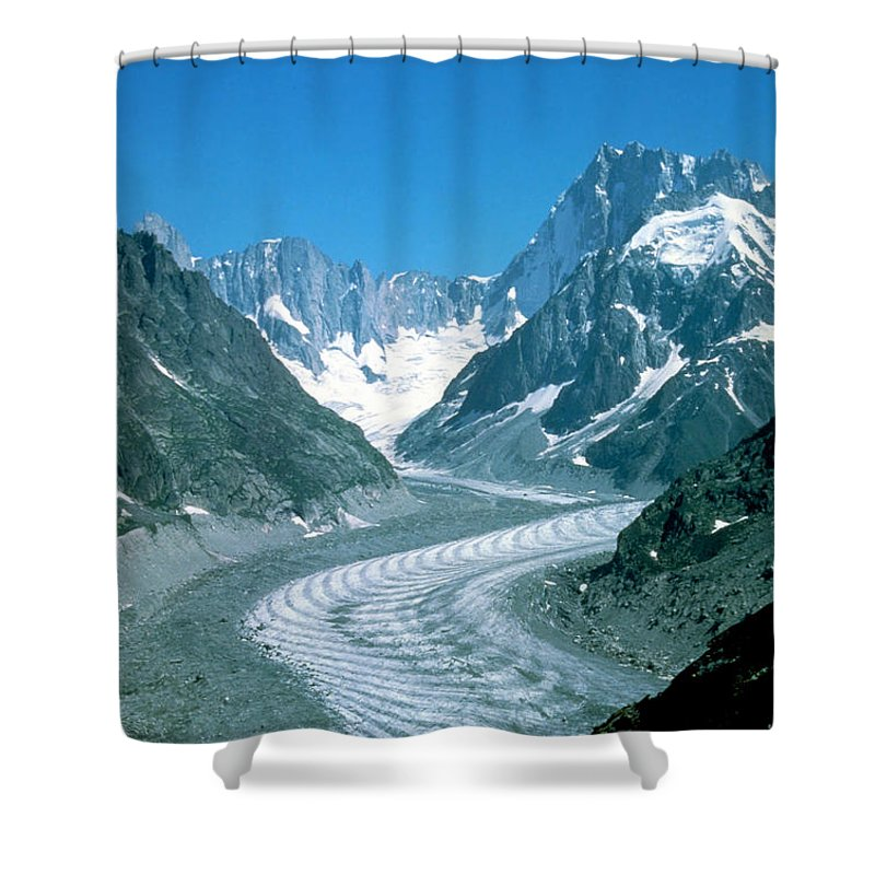 Glacier Shower Curtain featuring the photograph Alpine Glacier by Ted Kinsman