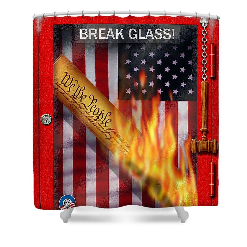 Cristopher Ernest Shower Curtain featuring the digital art America 2012 by Cristophers Dream Artistry
