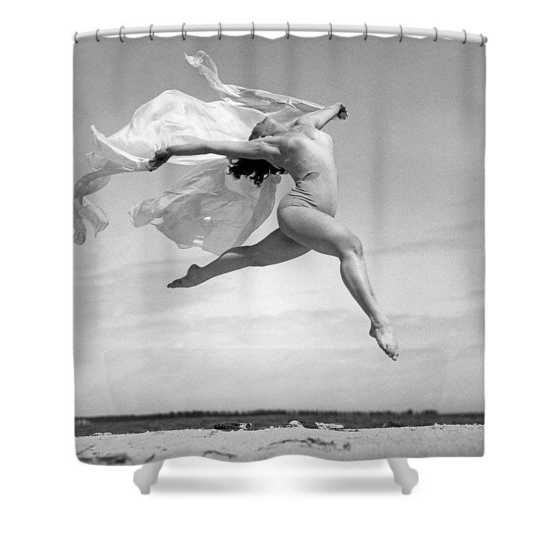 1035-751 Shower Curtain featuring the photograph An Exuberant Dance To Spring by Underwood Archives