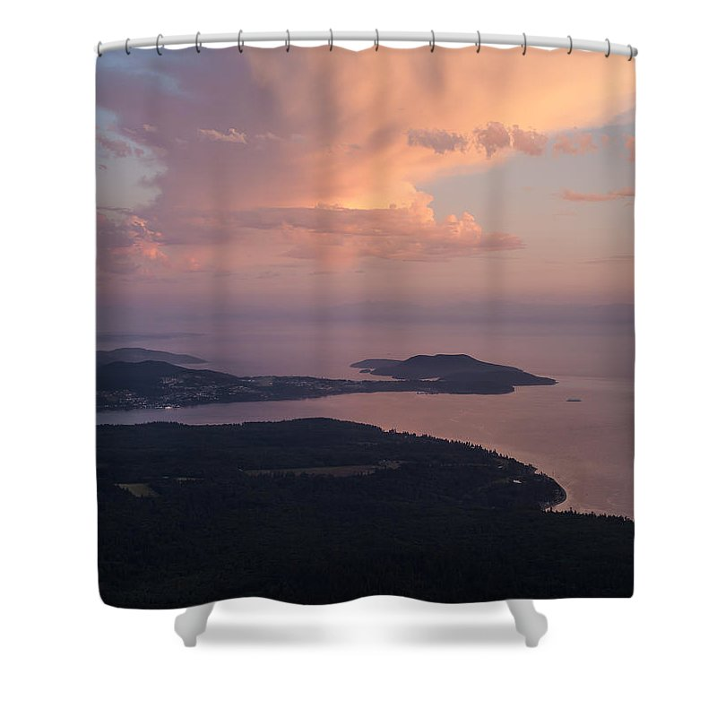 San Juan Islands Shower Curtain featuring the photograph Anacortes Thunder by Mike Reid