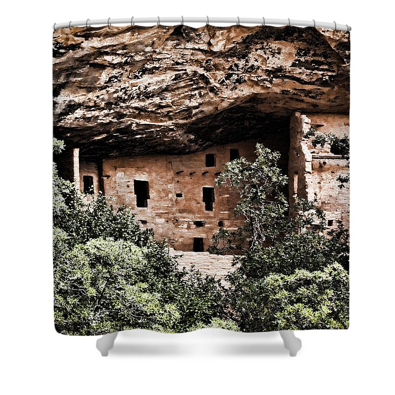 Anasazi Shower Curtain featuring the photograph Ancient Peoples by Karen Ulvestad