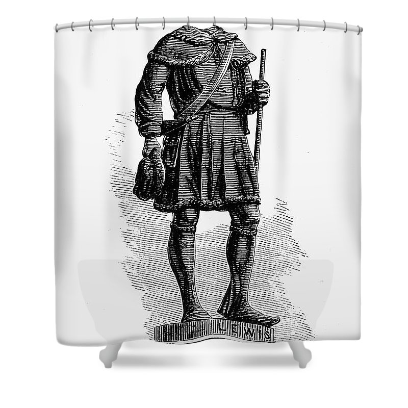 18th Century Shower Curtain featuring the photograph Andrew Lewis (1720-1781) by Granger