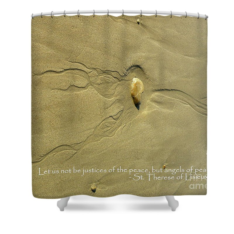 Angel Shower Curtain featuring the photograph Angel Of Peace by Lainie Wrightson
