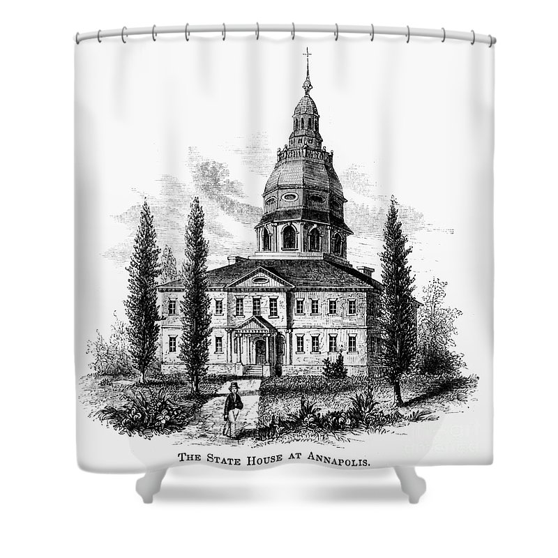 America Shower Curtain featuring the photograph Annapolis: State House by Granger