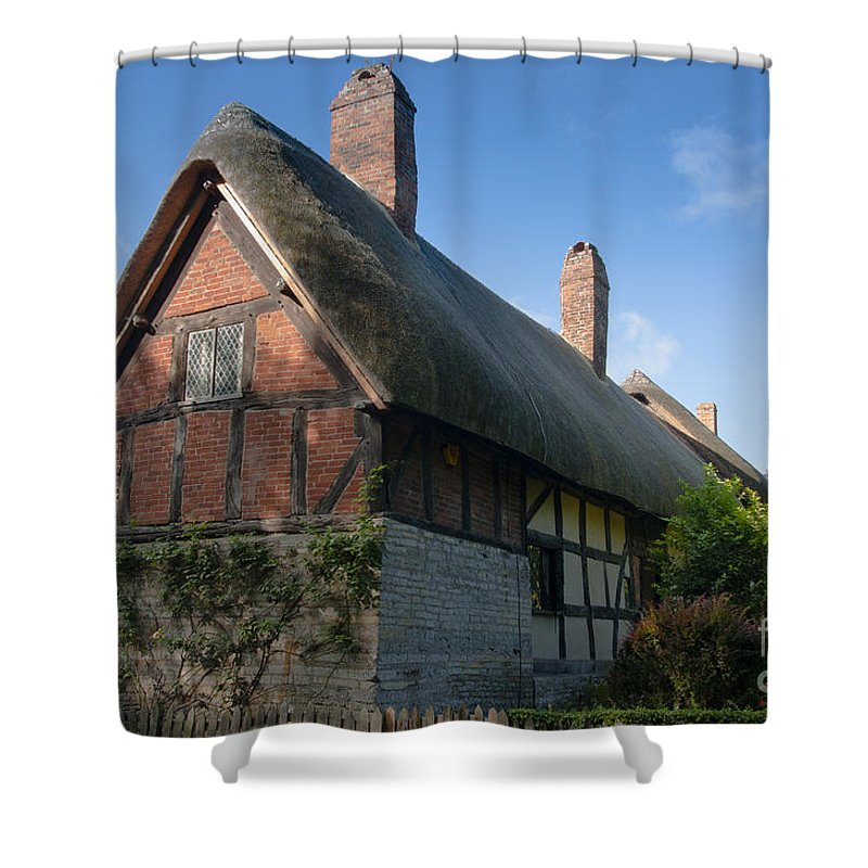 Anne Shower Curtain featuring the photograph Anne Hathaway's Cottage by Andrew Michael