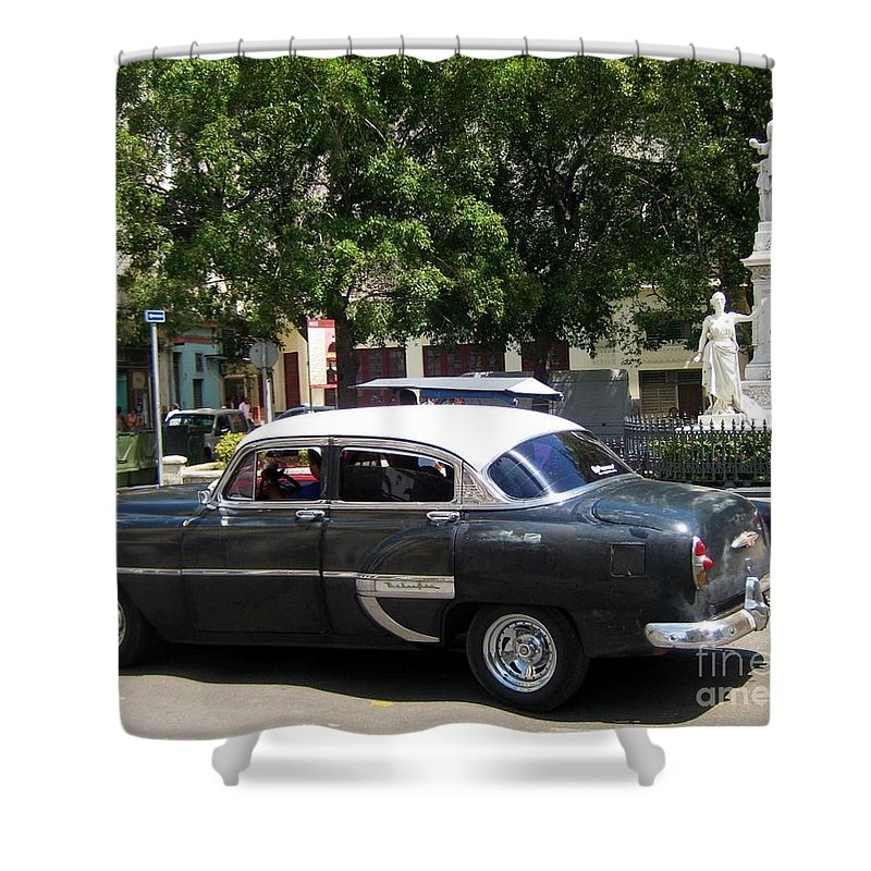 Car Shower Curtain featuring the photograph Another Classic Car by John Malone