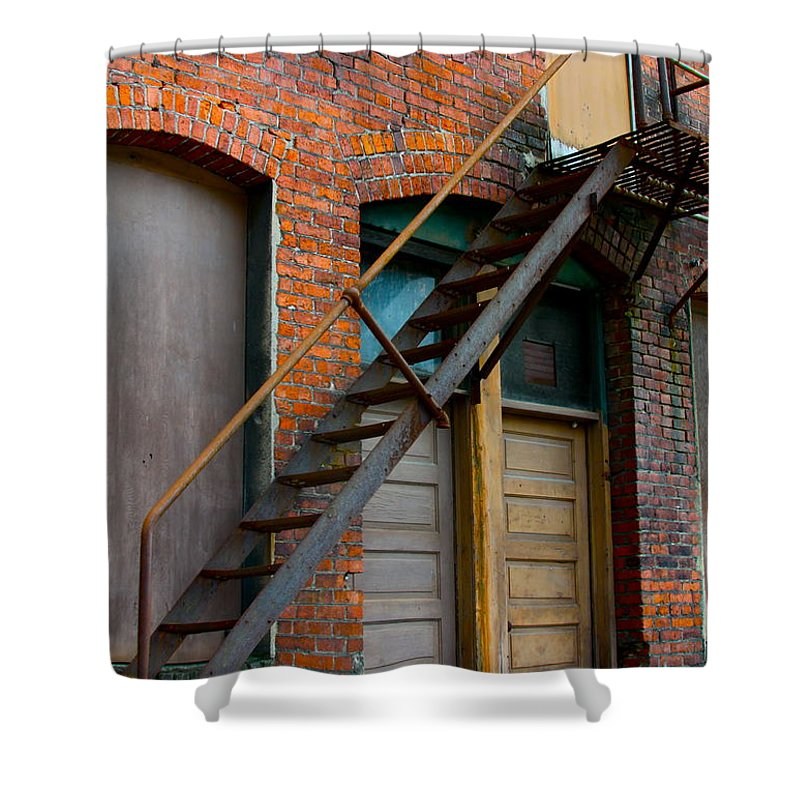 Business Shower Curtain featuring the photograph Another Way Out by Karon Melillo DeVega