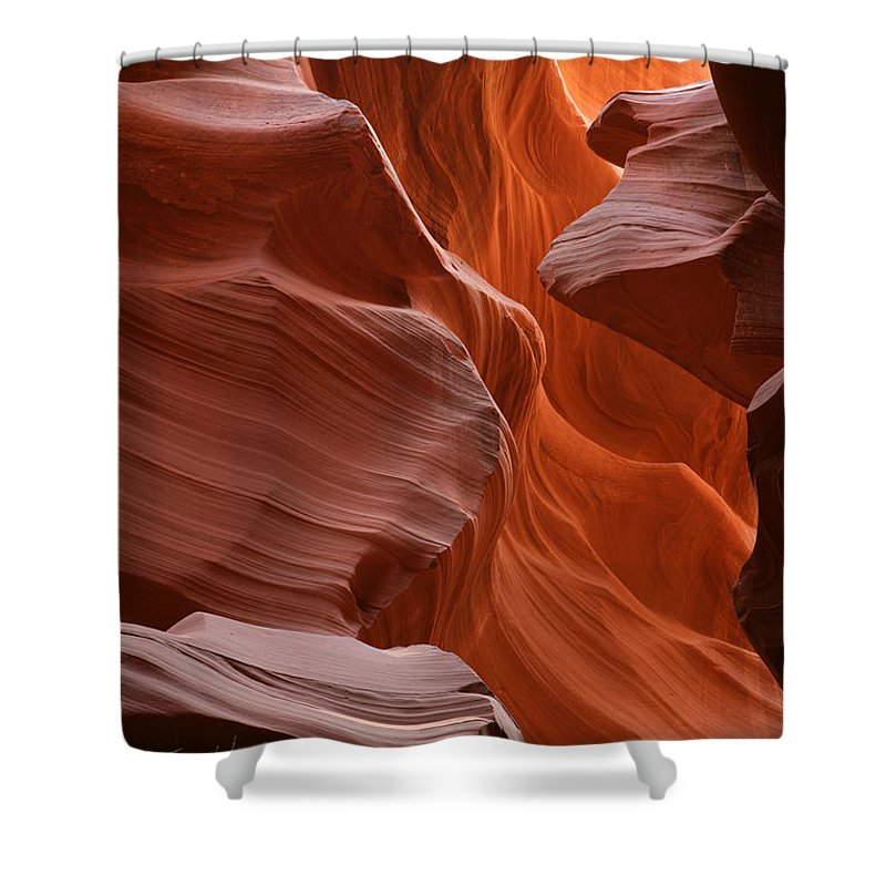 Light Shower Curtain featuring the photograph Antelope Canyon, Page, Arizona by Robert Postma
