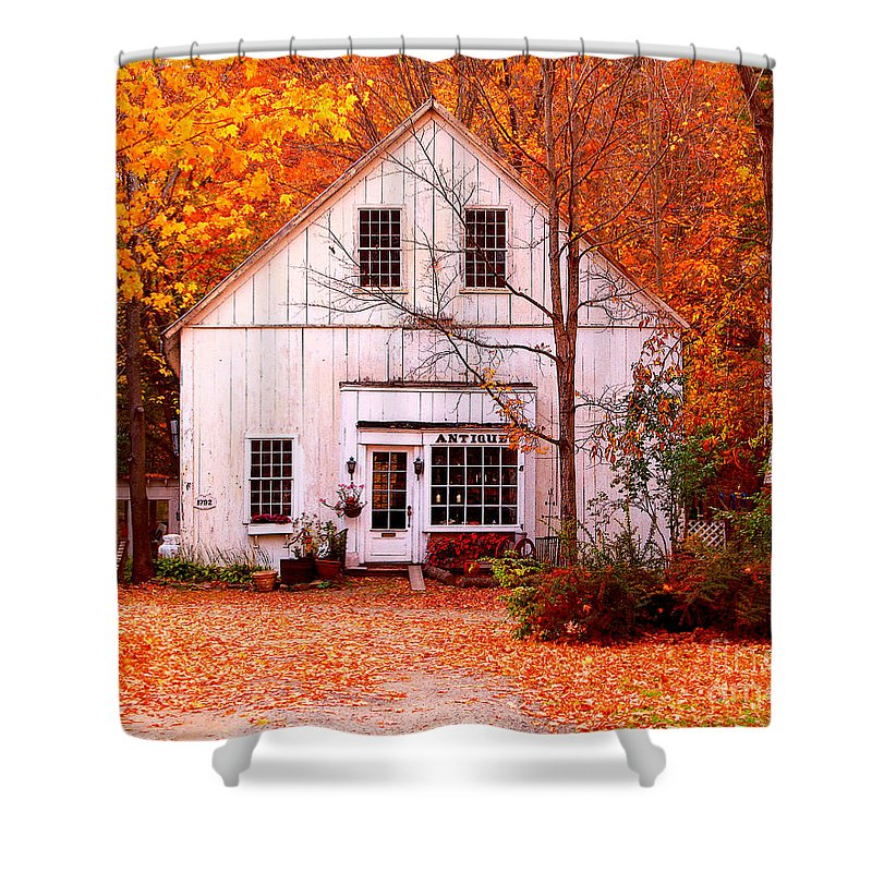 Antiques Store Shower Curtain featuring the photograph Antiques Store by Jack Schultz