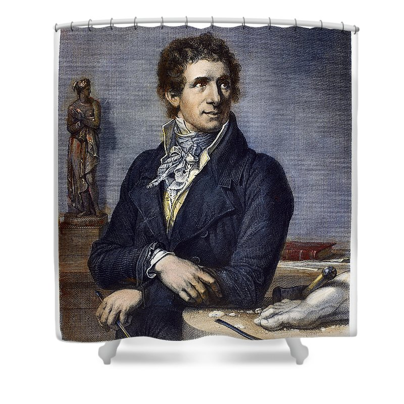 18th Century Shower Curtain featuring the photograph Antonio Canova (1757-1822) by Granger
