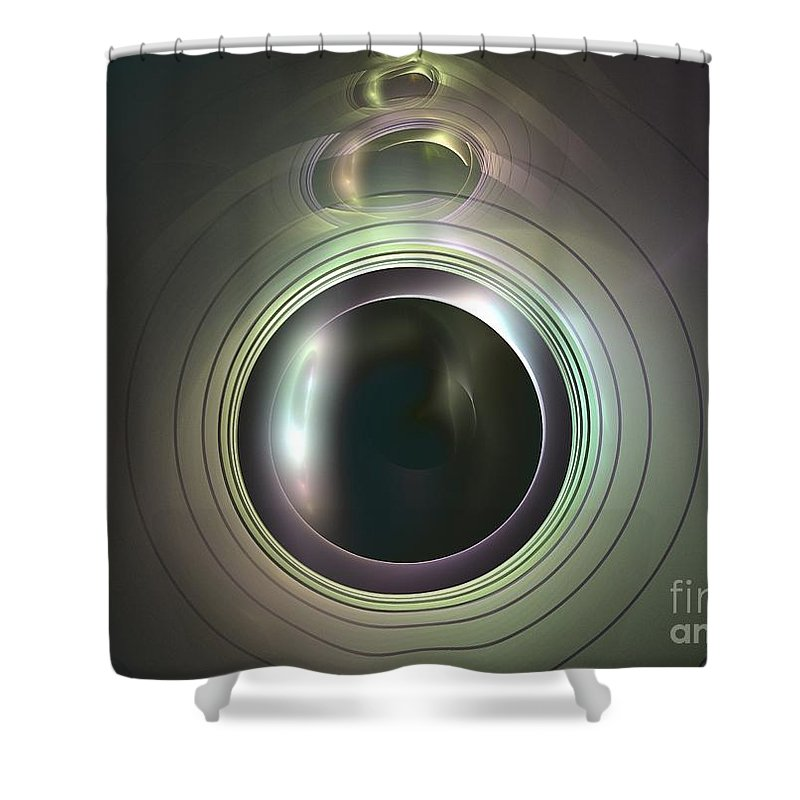 Apophysis Shower Curtain featuring the digital art Aperture by Kim Sy Ok